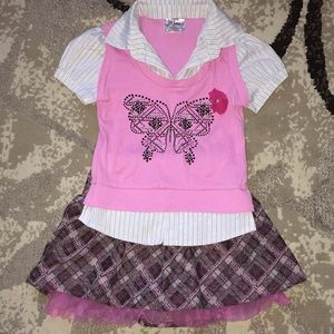Other - Shirt and skirt set!! Super cute!
